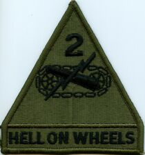 2nd Armored Division subdued patch US Army surplus Hell On Wheels