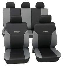 Grey & Black Leather Look Car Seat Covers - Subaru LEGACY IV Estate 2003 Onwards