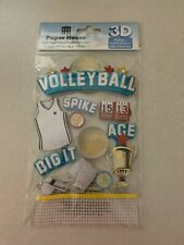 Brand New Volleyball 3D Stickers! Paper House Productions