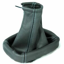FITS VECTRA C SIGNUM 2002-08 REAL ITALIAN LEATHER GEAR SHIFT BOOT GAITER BLUE ST