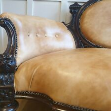 FABULOUS FULLY RESTORED ANTIQUE VICTORIAN CHESTERFIELD LEATHER ARMCHAIRS & SOFA