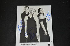 THE HUMAN LEAGUE signed Autogramm 20x25 cm In Person