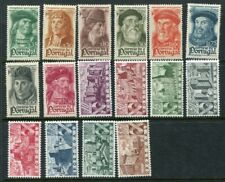 Portugal 1945-46 Navigators Castles Mh lot 2 Sets 16 Stamps