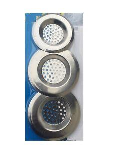 3x Metal Sink Strainer Bath Tub Basin Plug Hole Filter Kitchen Bathroom WC Drain