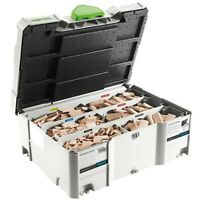 Festool 498899 DF 500 Assorted Domino Beech Tenons & Cutters T-Loc Systainer