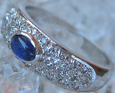 wow✨0,25 ct.✨ Brillanten in aus 14kt 585 Weiß Gold Ring mit Safir Saphir Diamond