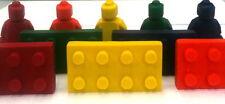 10 Sets- 5 Mini Figure Men Block Brick Combo Crayon Party Favors