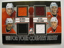 Lindros Sakic Coffey Yzerman 2013 ITG DECADES 90S FOR YOUR COUNTRY QUAD JERSEY