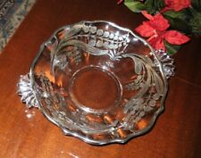 """Fostoria LILY of VALLEY Sterling SILVER Overlay  BOWL 10.5""""  NO Silver Loss"""