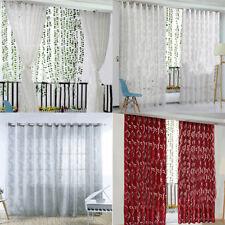 Window Curtain Lattice Yarn Beauty Leaves Tulle Translucent Vine Bubbles Bedroom