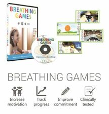 BREATHING GAMES PACKAGE-ASTHMA, COPD,ATHLETES-BREATHE BETTER EXERCISES-FREE SHIP