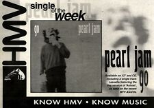 30/10/93PGN21 PEARL JAM : GO SINGLE ADVERT 7X11""