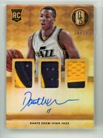 2014-15 Dante Exum 16/25 Auto Patch Panini Gold Standard Rookie RC Autographs
