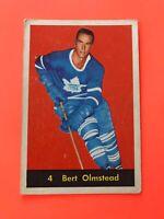 BERT OLMSTEAD 1960-61 PARKHURST HOCKEY CARD #4 TORONTO MAPLE LEAFS