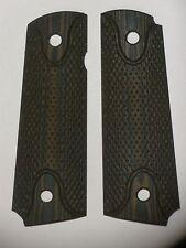 1911 Grips Micarta Checkered Brown Ambi 1911A1 Colt Kimber Springfield nn