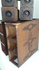 6 SINGER SEWING MACHINE vintage CABINET DRAWERS+racks for repair (q624)p2