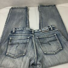 Paco Industries NYC Jeans Sz 32 x 32 Straight Leg Stone Wash Distressed Faded