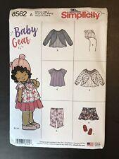 Simplicity 8562 Baby Gear Toddler sz XXS - L NEW UNCUT Tops Hat Skirt Pants Shoe