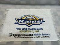 St Louis RAMS Inaugural Season 1st Dome Stadium Game Rally Towel Nov 12 1995