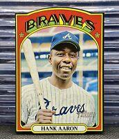 🔥2021 Topps Heritage Hank Aaron '72 Die Cut Black Border SSP Braves HOF HTF🎲🎬