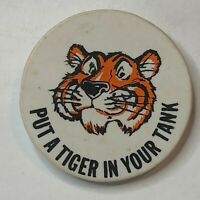 """vintage 1960's Esso fuel Advertising Badge """" Put A tiger In Your tank 3.2 cm's"""