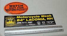 Cuidado con las motocicletas & Moto Pegatinas De Parachoques semanal