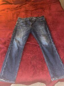 american eagle 36x30 jeans darker wash slim airflex +