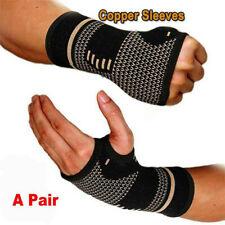 1/2PCS Copper Wrist Hand Brace Support Fit Carpal Tunnel Splint Sprain Arthritis