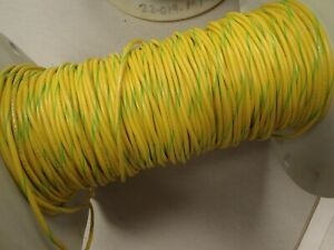 USA 100ft 22awg 22ga Copper Yellow with Green Stripe PVC Stranded 6 Wire 600v