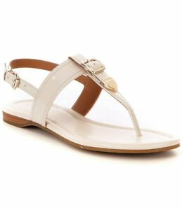 NEW - COACH Cassidy Patent Leather Sandal, Chalk, Sizes:  8 and 8.5