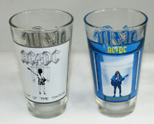 Two 2010 Ac/Dc Flick Switch Who Made Glass Collector Pint Beverage Tumblers