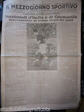 IL MEZZOGIORNO SPORTIVO 1 gennaio 1933  ITALIA E GERMANIA DI FRONTE DOPO 3 ANNI