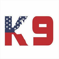 3M Graphics American Flag K9 Vinyl Car Window Truck Decal Sticker Helmet Decor