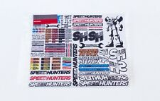 SPEEDHUNTERS RC CAR STICKER SHEET - #1 FOR 1/10 SCALE RC SHELLS * OFFICIAL MERCH