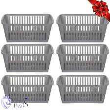 Handy Storage Basket Organizer Kitchen Rack Cabinet Cupboard Storing Boxes 6 Pcs