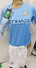 Manchester City 2017-18  Youths  Soccer Jersey, Socks  & Shorts (10-11 Year Old)