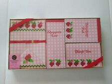 Vintage Scentibles Large Ensemble Strawberry Scented Stationery Set New In Box