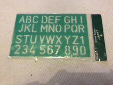8530 Linex Lettering Stencil 30mm, Used But Excellent Condition.