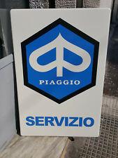 Targa PIAGGIO SERVIZIO 60x40 cm Tabella metallo vintage garage INSEGNA Vespa