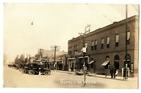RPPC photo postcard SUNNYSIDE WASHINGTON street scene signs architecture 1910s