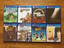 Lot of 5 PS4 Limited Run Games Rainbow Moon+Shadow Complex+Astebreed+Pang bundle