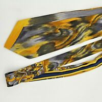 Vitaliano Pancaldi 100% Silk  Multi -Color Neck Tie Italy Yellow/Black Deco