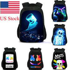 Us Shipping Dj Print Backpack Marshmallow Kid Schoolbag Travel Bag Ruchsack