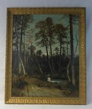 Antique Christopher H. Shearer Oil/Canvas Landscape Painting Signed & Dated