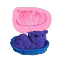 Silicone Cake Mould 3D Cat Pet Chocolate Paste Fondant Mold DIY Soap Sugar Craft