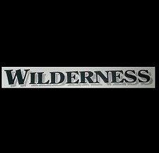 NEW 3D WILDERNESS RV CAMPER CARGO HORSE TRAILER DECAL