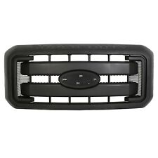 Black Hood Grille Front Radiator Grill Fit 11-16 Ford F250 F350 Super Duty