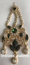 &Gold Colour jhoomar Jewellery Indian/Pakistani Bollywood style Green rhinestone