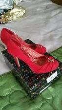 PLAYBOY RED SIZE 3 suede STILLETOS SHOES