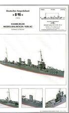 Card Model Kit – B 98 German WW1 Torpedoboat .